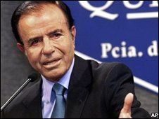 Carlos Menem, 1999 file photo