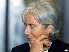 French Finance Minister Christine Lagarde (image from 11 November)
