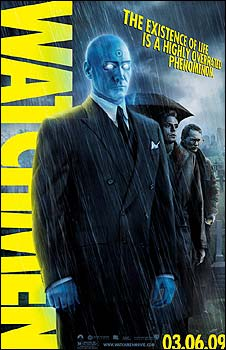 Watchmen poster featuring Dr Manhattan