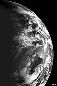 صورة التقطتها المركبة لسطح الأرض