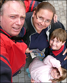 Colin Constable and his family