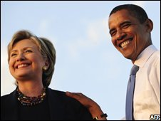 Clinton and Obama in Orlando, Florida, 20 October