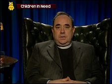Alex Salmond takes on the Reverend I M Jolly persona