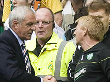 Rangers manager Walter Smith and Celtic counterpart Gordon Strachan