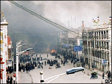 Unrest in Lhasa on 14 March