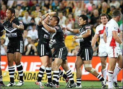 New Zealand team celebrate