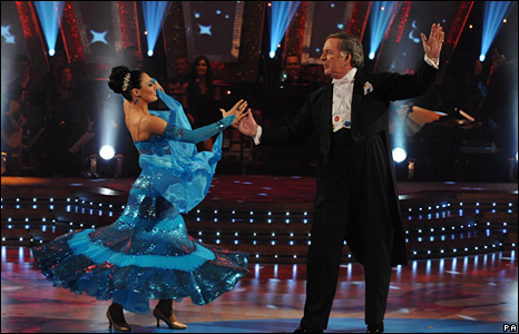Flavia Cacace and Terry Wogan