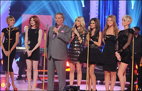 Girls Aloud with Terry Wogan and Fearne Cotton