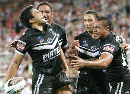 Jerome Ropati and team-mates