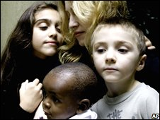 Madonna and family
