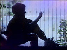 Child in silhouette