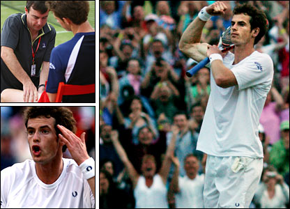 Andy Murray is forced to retire at Queen's Club but returns to star at Wimbledon, beating Richard Gasquet in a thrilling fourth-round tie
