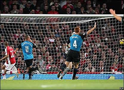 Aston Villa score