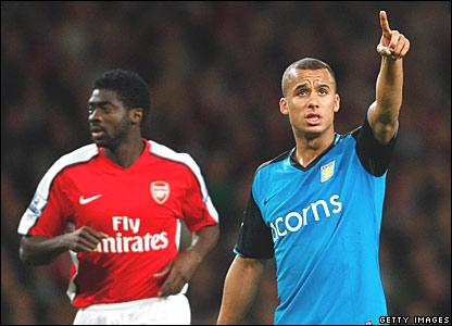 Kolo Toure, Arsenal; Gabriel Agbonlahor, Aston Villa