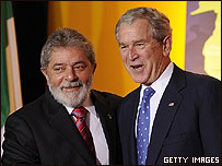 Luiz Inacio Lula da Silva y George W. Bush