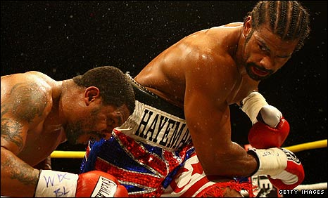 Monte Barrett and David Haye
