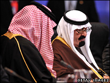Saudi Arabia's King Abdullah at the G20 summit (15 November 2008)