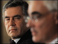 Gordon Brown and Alistair Darling at the G20 summit