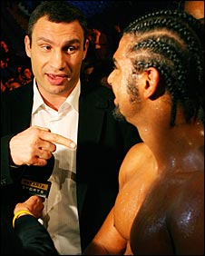 Vitali Klitschko was impressed with Haye's destruction of Barrett