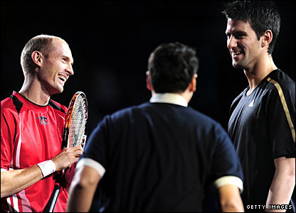 Nikolay Davydenko and Novak Djokovic