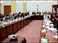 Iraqi cabinet votes on the Status of Forces Agreement