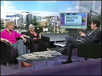 Christine Hamilton and Ann Widdecombe