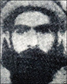 An undated photo thought to show Mullah Omar