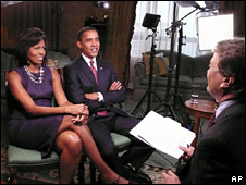 Michelle and Barack Obama are interviewed by CBS (16 November 2008)