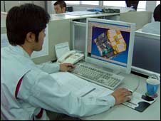 Computer worker in Osaka