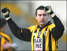 Oisin McConville's reaction after the final whistle