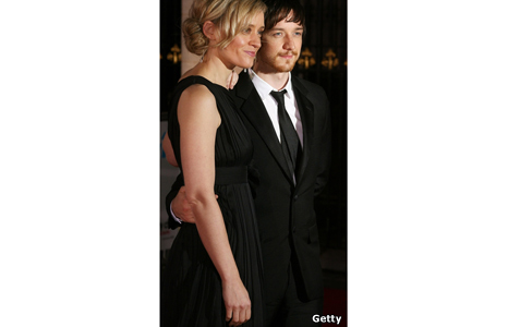 Anne Marie-Duff and husband James McAvoy