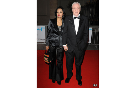 Sir Michael Caine with wife Shakira
