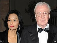 Sir Michael Caine with Lady Shakira