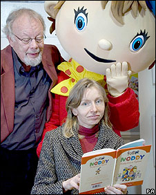 Sophie Smallwood and illustrator Robert Tyndall with Noddy