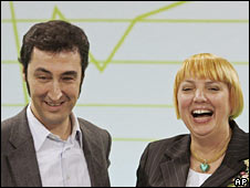 Cem Ozdemir and Claudia Roth, co-chairs of the Green Party