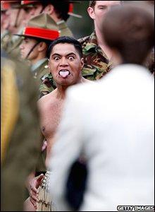 HRH Princess Anne gets a Maori welcome at Burnham Military Camp in Christchurch, New Zealand