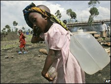 Refugee girl in Congo 