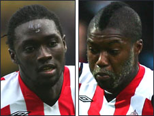 Kenwyne Jones (left) and Djibril Cisse