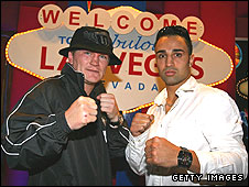 Ricky Hatton (left) and Paulie Malignaggi