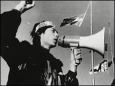 Wang Dan, student leader, addressed crowds at Tiananmen Square in 1989