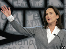 Segolene Royal at the party congress in Reims