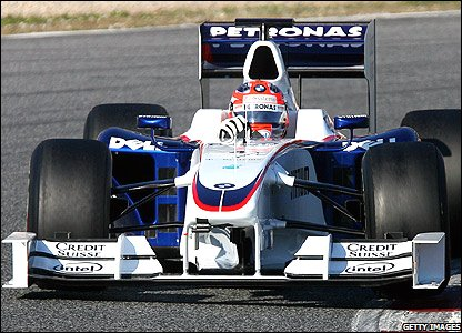 Robert Kubica tests for BMW Sauber
