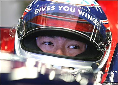 Takuma Sato tests for Toro Rosso