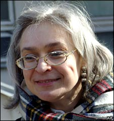 Anna Politkovskaya, pictured in April 2005