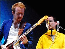 Al Doyle and Alexis Taylor from Hot Chip
