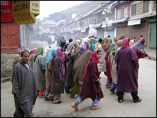 Women protest in Bandipora