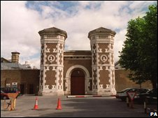 The main entrance of Wormwood Scrubs Prison
