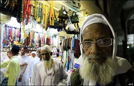 Muslim pilgrims in Medina, Saudi Arabia
