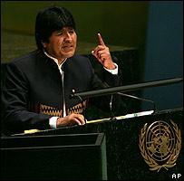 Evo Morales en la ONU el 17 de noviembre
