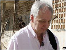 Gunnar Bergstrom visits Khmer Rouge torture centre and jail, Tuol Sleng, Nov 2008